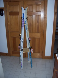 Alpine Ski Coat Tree/Floor Coat Rack $80.00. Available Various Heights,  With Or Without Ski Bindings, Taller Rack Available With A Second Lower Set  Of Coat ...
